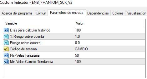 parametrosscreenercambio